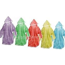12pcs Desechable Emergencia Capucha Impermeable Adultos Poncho Para Lluvia Viaje