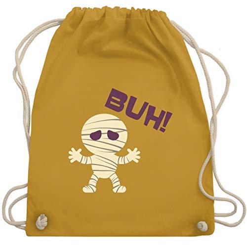 Kostüm Tod Dunkler - Halloween - Mumie Buh süß - Unisize - Senfgelb - WM110 - Turnbeutel & Gym Bag