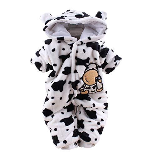 sunnymi 0-24 Monate Baby Bär SAMT Hoodie Weihnachten Overall Winter Kleidung Set (3 Monate, Weiß ()