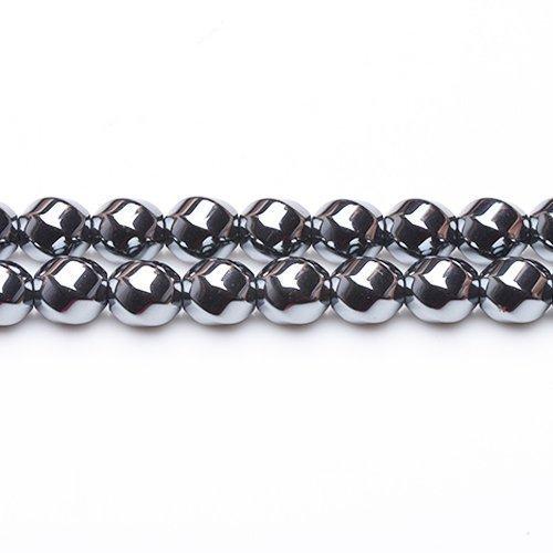 Fil De 48+ Gris Hématite (Non Magnétique) 8mm Perles Hexagone Twistée - (GS12557-2) - Charming Beads