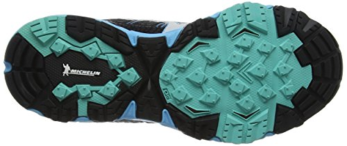Mizuno Damen Wave Mujin 3 G-Tx (W) Laufschuhe Grau (Dark Shadow/silver/norse Blue)