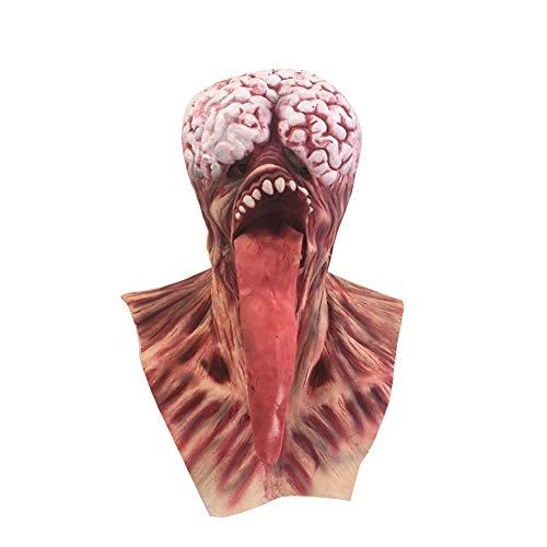 Weimay 1x Halloween Maske Gruselige Gehirn Lange Zunge-Maske Umweltfreundliches Latex-Material Halloween Cosplay Partei Mask