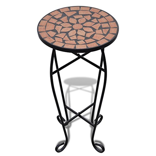 Anself Side Table Plant Table, Terracotta
