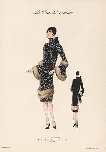 Generic La Grande Couture Damen Mode Vintage Wandposter 11270 (A3-a4-a5) - A5 Vintage Couture-mode