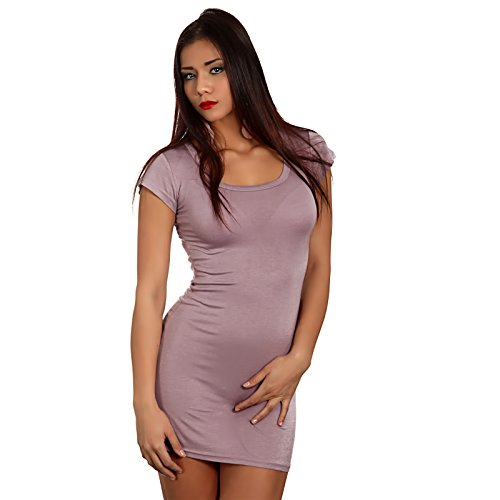 Young Fashion Longshirt Minikleid Basic Shirt Dress Shirt Altrosa