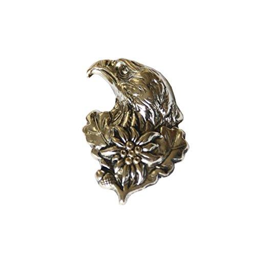 Hutanstecker | Hutabzeichen | Hutschmuck | Anstecker – Adler mit Edelweiß – 3,3 x 2,5 cm