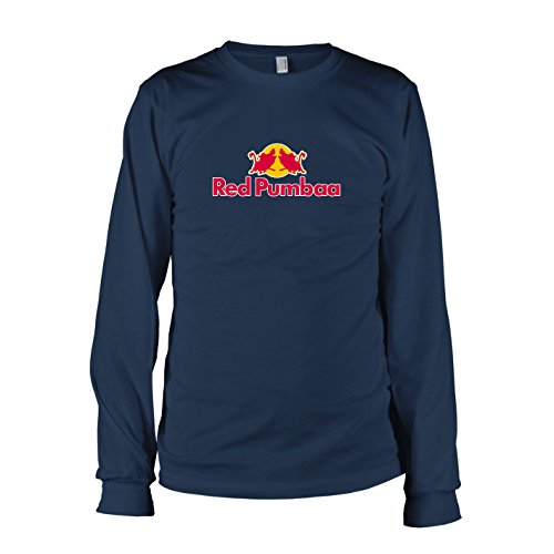 TEXLAB - Red Pumbaa - Langarm T-Shirt, Herren, Größe XXL, (Timon Pumba Kostüm)