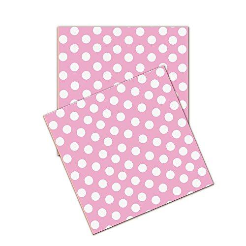Verbetena - Pack de 20 servilletas con lunares, 33 cm, color rosa (016001119)