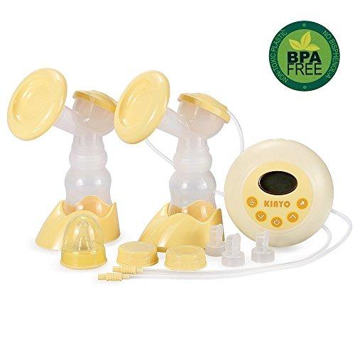 [Modifizierte Version]Elektrische Doppel Milchpumpe, KinYo Elektrische Doppel Milchpumpe mit LCD Display Massage Funktion.