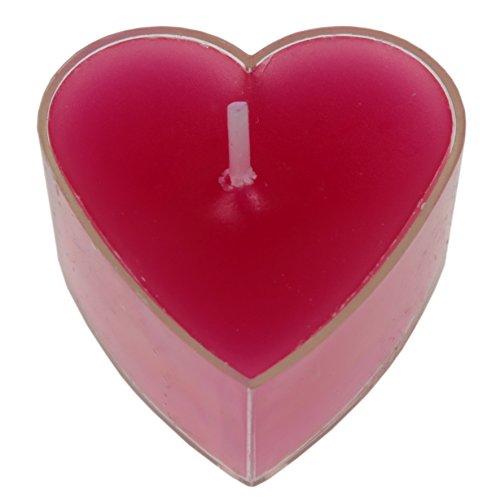 Teelichter Herz in Fuchsia pink – 4 Stück