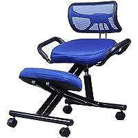 TTLIFE - Taburete ortopédico ergonómico para rodillas, estructura de postura de piel sintética, asiento de asiento con altura ajustable, para mejorar la postura de la oficina y el hogar