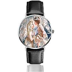 Engel Kuss Uhren langlebig pu Leder Armbanduhr Leben Ruhe quarzuhr