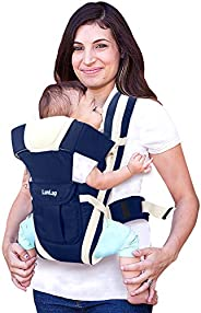 LuvLap Elegant Baby Carrier with 4 carry positions, for 6 to 24 months baby, Max weight Up to 15 Kgs (Navy blu