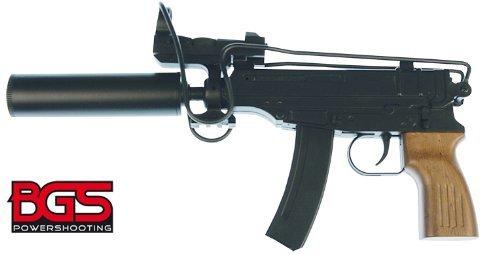 Fucile Softair Airsoft BGS 37 con calcio pieghevole (in metallo) Red dot sight e silenziatore 0,5 Joule