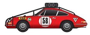 Dickie de Dickie-Schuco 413311059-True Scale-Porsche 911# 58de 1968, 1: 43, Color Rojo
