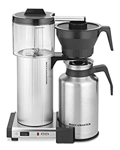 Moccamaster CDT Grand 15-Cup Coffee Brewer with Thermal Carafe, Brushed Silver by Technivorm Moccamaster