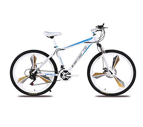 QWE Bicicletta Full Suspension 27 velocità Mountain Bike Bicicletta da 26'Ultra Leggera Bianca
