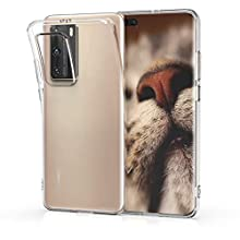 kwmobile Crystal Case Compatible with Huawei P40 Pro - Soft Flexible TPU Silicone Protective Cover - Transparent
