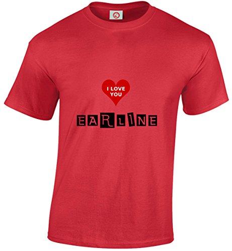 T-shirt Earline rossa