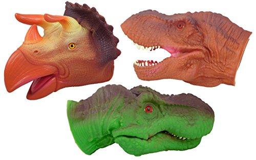 22 cm Dino Mundial Chomping Dino Head - 3 diseños variados - 1 elegido al azar