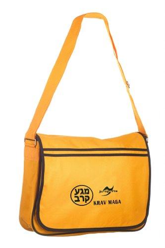Retro Messenger Bag gold/schwarz Krav Maga