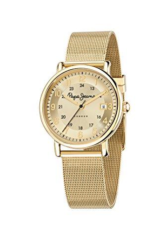 Pepe Jeans R2353105502 - Reloj con correa de acero para mujer, color dorado/gris