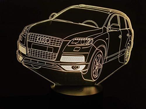 Zeichnung kompatibel mit einem AUDI Q7, 3D-Lampe LED