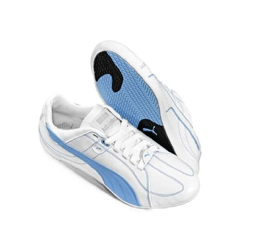 BMW-Original-Athletics-Zapatillas-zapatos-repli-Cat-3-Ltd-by-Puma--Blanco-color-azul-claro-talla-38