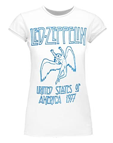Amplified Led Zeppelin USA 1977 T-shirt des femmes (M)