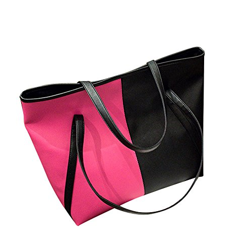 Tasche Wechseln BV4Umhängetasche aus Leder in kontrastfarbener Lederoptik für Damen Umhängetasche Mädchen Lederhandtasche Schultertasche Damen Leder - Cabrio Leder Aktentasche