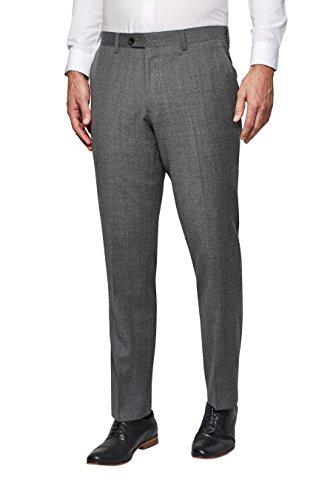 next Homme Costume Signature Texturé: Pantalon Gris