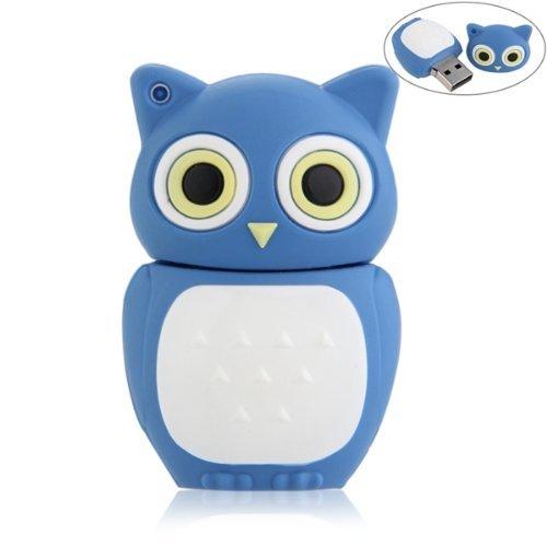 SODIAL (R) 16 GB USB 2.0 Speicher Stick Blitz Speicher Eulen - Blau - Eulen Grenze