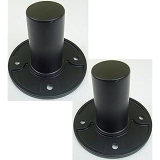 2x ADAM HALL SM702 Boxenflansch 35 mm SM 702 - Stativhülsen für Lautsprecherstative