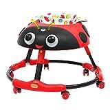 Meen Andador De Bebe, Andador Plegable Multifunción para Bebés De 6 A 18 Meses Caminador Antivuelco (Color : Red)