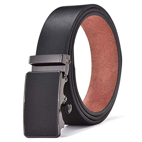 Mens Belt Pu Leather Classic Style Strap Slim Buckles For Jeans Suit -