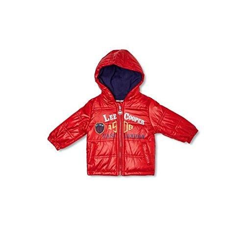Lee Cooper-Parka con cappuccio per neonato, da maschietto rosso 12 mesi