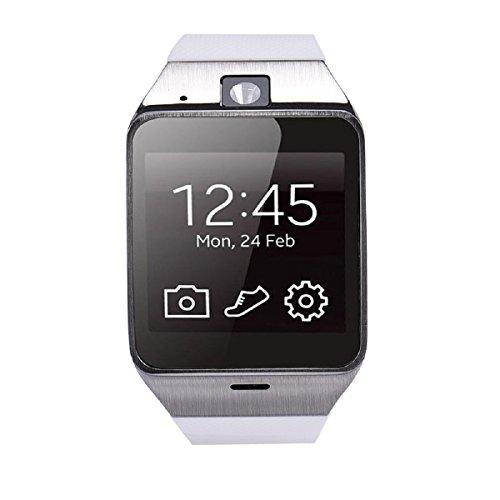 Tongshi Aplus GV18 Bluetooth inteligente reloj teléfono GSM NFC Cámara reloj impermeable para Samsung iPhone (blanco)
