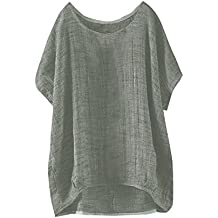 Ropa Mujer ❤️️Lonshell Camisa de Manga del Murcielagos Camiseta Suelta Casual Blusa Señoras Mujeres Color