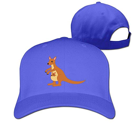 Pimkly Unisex Hüte,Baseballmützen, Kangaroo Clipart Cotton Pure Color Baseball Cap Classic Adjustable Visor Hat Kangaroo Classic Cap