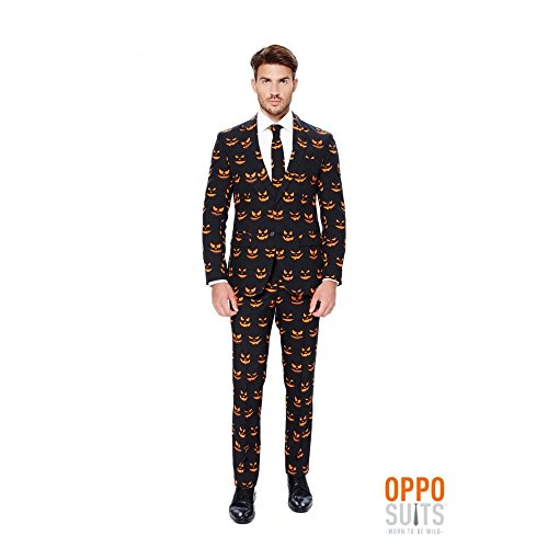 Pumpking Opposuits Anzug L/XL (Halloween Men Kostüm Black In)