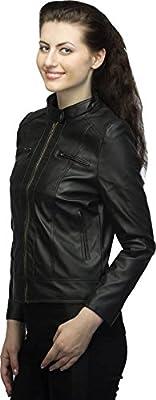 VEEBA World Black Pu Leather Jackets for Womens