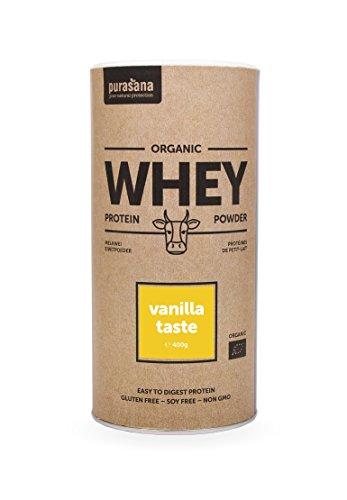 PURASANA Bio Whey Protein-Pulver von österreichischen Kühen aus Bio-Haltung - hervorragende Milch und Molkequalität - Vanille (Bio-protein-milch)