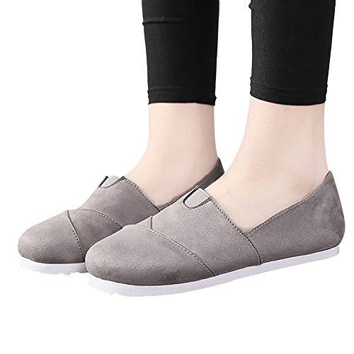 OSYARD Damen Frauen Espadrilles Loafers,Damenmode Flache Schuhe Faule Schuhe Weich Atmungsaktiv Casual Style Erbsenschuhe Flat Shoes Bequeme Slip-On Freizeitschuhe,Größe 35-43
