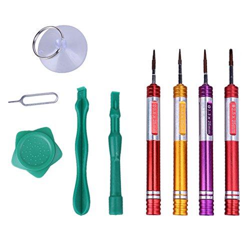 Handy Reparatur Werkzeug Kit, 8 in 1 Telefon Reparatur Öffnungswerkzeuge für iPhone 7 Metall Schraubendreher Set Tools - Telefon-reparatur-tools