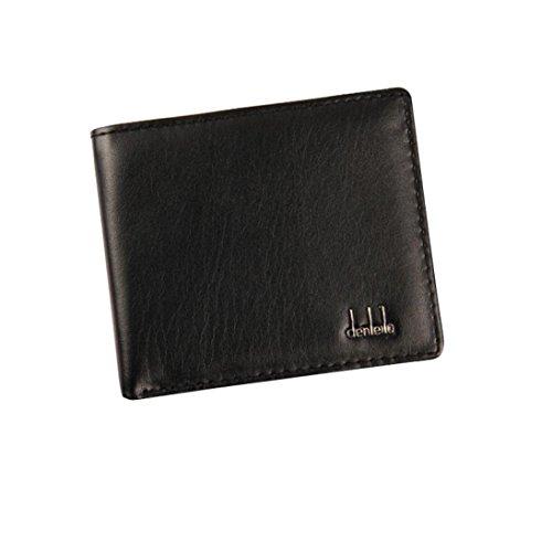 se Herren Bifold Business Leder ID Kreditkarteninhaber Portemonnaie Brieftasche Geldbeutel Elegant Frauen Mode Schwarz (Fossil Geldbörse Für Frauen Schwarz)