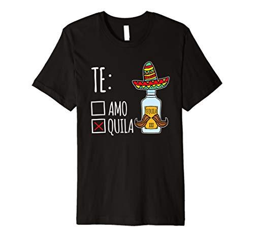 (Teamo Tequila lustiges Mexiko Party Geschenk T-Shirt)