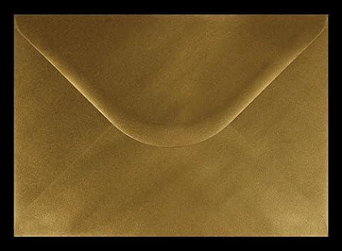 Or métallique Enveloppe Format C5(162mm x 229mm) Lot de