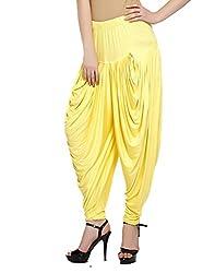 Sakhi Sang Womens Viscose Dhoti Salwar [SS0832_Free Size_Yellow]
