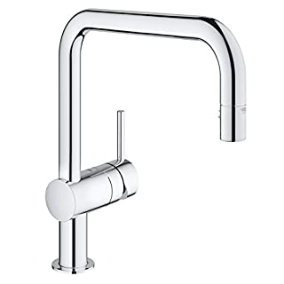 GROHE 32322000 Minta Kitchen Tap with Pull-Down Shower Head