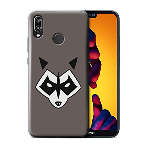 Stuff4® Hülle/Case für Huawei P20 Lite/Rocket Raccoon Inspiriert Muster/Superheld Comic-Kunst Kollektion (Rocket Cover)
